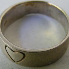 Inel vechi din argint cu inima - Inel argint