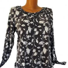 Bluza Ann Taylor Loft Gri - Bluza dama, Marime: M, Culoare: Din imagine, Maneca lunga, Universala