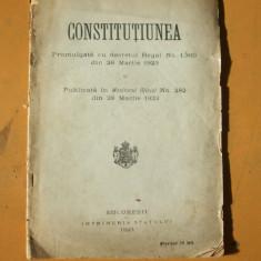 Constitutia din 28 martie 1923 publicata in monitorul oficial cu decret regal - Carte Drept constitutional
