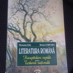 LITERATURA ROMANA RECAPITULARE RAPIDA PENTRU TESTAREA NATIONALA -CORCHES