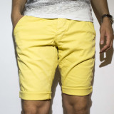 Pantaloni scurti tip Zara - 100% bumbac pantaloni galbeni pantaloni vara cod 21