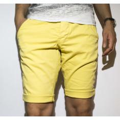 Pantaloni scurti - 100% bumbac pantaloni galbeni pantaloni vara cod 21