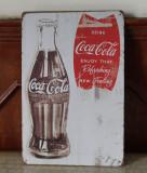 Reclama metalica vintage - Cola Cola - Enjoy!