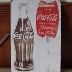 Reclama metalica vintage - Cola Cola - Enjoy! - Cutie Reclama