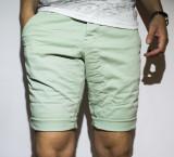 Cumpara ieftin Pantaloni scurti - 100% bumbac pantaloni verzi pantaloni vara cod 22
