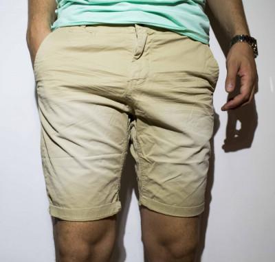 Pantaloni scurti barbati - bumbac pantaloni bej pantaloni barbat cod 36 foto