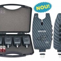 Set 4 avertizoare TLI029 Baracuda + valigeta transport - Avertizor pescuit Baracuda, Swingere