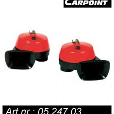Set 2 claxoane auto Carpoint 12V 108W 112dB cu 2 tonuri - Claxon