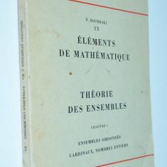 Nicolas Bourbaki - Elements de Mathematique Vol. III - Carte Matematica