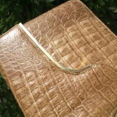 Geanta femei piele CROCODIL- piele exotica-aligator bag autentica - Geanta vintage