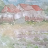 Peisaj - Pictor roman, Peisaje, Acuarela, Impresionism