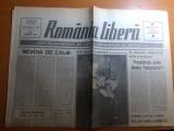"""ziarul romania libera 1 martie 1990- art. """"nevoia de calm"""" de octavian paler"""