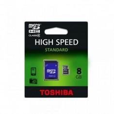 Card memorie microSDHC  8GB cu adaptor SD Toshiba