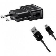 Incarcator Samsung Micro USB cu cablu de date Original - Incarcator telefon Samsung, De priza