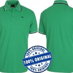 Tricou barbat Diadora Polo Piquet - tricou original - tricouri bumbac - Tricou barbati Diadora, Marime: S, Culoare: Verde, Maneca scurta