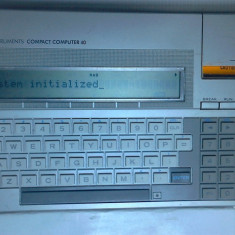 Calculator vechi rar texas instruments +manual in RO pc 1983 laptop de colectie