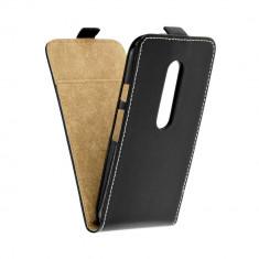 Husa Motorola Moto G3 XT1541 Flip Case Inchidere Magnetica Black - Husa Telefon Motorola, Negru, Piele Ecologica, Cu clapeta, Toc