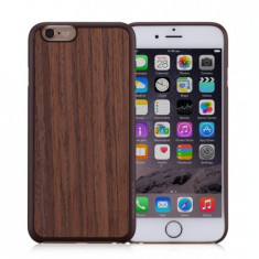 Husa iPhone 6s, 6 | Fell n Touch | Wood Series |Maro Inchis|Momax - Husa Telefon