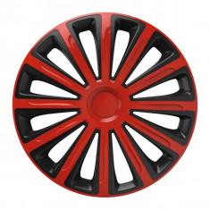Set Capace Roti AutoMax Polonia 14 inch Versaco Trend, Rosu si Negru, R 14