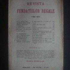 REVISTA FUNDATIILOR REGALE   1 Mai 1934