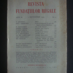 REVISTA FUNDATIILOR REGALE  anul II, 1 Septembrie 1935, nr. 9