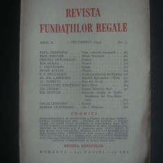 REVISTA FUNDATIILOR REGALE  anul II, 1 Decembrie 1935, nr. 12, Alta editura