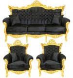 SET LIVING CU SOFA NEAGRA, Sufragerii si mobilier salon, Baroc