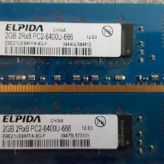 Memorie RAM DDR 2 ELPIDA 2 GB 800 MHz P2-6400U-666