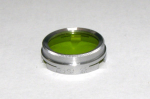 Filtru galben verde camera filmat B+W 23mm(221)