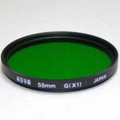 Filtru verde Hoya 55mm(087) - Filtru foto
