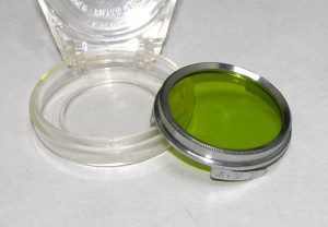 Filtru galben verde camera filmat B+W 31mm(229)