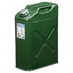 Canistra combustibil din metal, 20L, cu furtun flexibil transfer lichide - Canistra Benzina