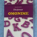 DICTIONAR OMONIME  ALEXANDRU EMIL,STARE FOARTE BUNA .