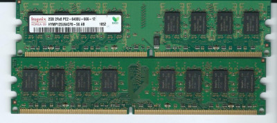 Memorie RAM DDR  2 HYNIX 2 GB  800 MHz PC2-6400U-666 foto