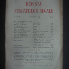 REVISTA FUNDATIILOR REGALE  anul II, 1 August 1935, nr. 8