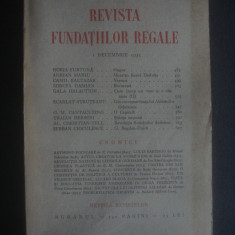 REVISTA FUNDATIILOR REGALE 1 Decembrie 1934