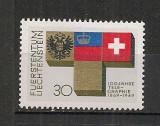Liechtenstein.1969 100 ani telegraful  CL.55, Nestampilat