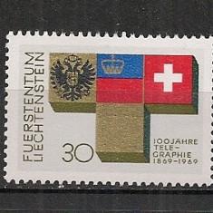 Liechtenstein.1969 100 ani telegraful CL.55 - Timbre straine, Nestampilat