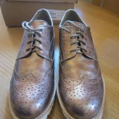ASOS - Glamouros - Pantofi fără toc roze-aurii - Pantof dama Asos, Culoare: Auriu, Marime: 39.5, Cu talpa joasa