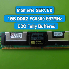 Memorie Server DDR2 1GB PC2 5300 667MHz ECC Kingston KTH-XW667LP