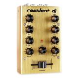 2-canale DJ Mixer aurit