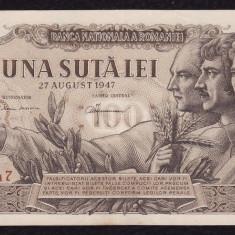 P. ROMANIA, 100 LEI 27 AUGUST 1947_seria X.2_714147 - Bancnota romaneasca