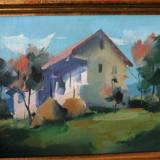 Peisaj semnat G Radeanu - Pictor roman, Peisaje, Ulei, Realism