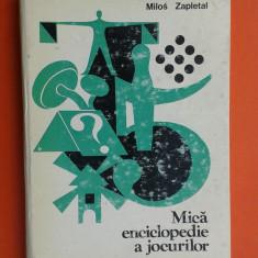 MICA ENCICLOPEDIE A JOCURILOR Milos Zapletal - Carte sport