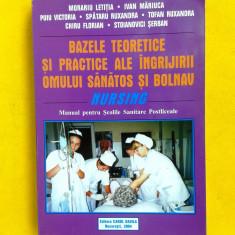 BAZELE TEORETICE SI PRACTICE ALE INGRIJIRII OMULUI SANATOS SI BOLNAV NURSING - Carte Recuperare medicala