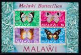 Malawi  1973  fauna  fluturi  MI  bl.30     MNH  w34, Nestampilat