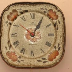 Ceas ceramic de perete Junghans pictat manual - Ceas de perete