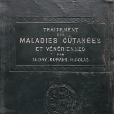 Traitement des Maladies Cutanees et Veneriennes - Audry, Durand, Carnot - Carte Dermatologie si venerologie