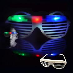 Ochelari Shutter cu 3 LED-uri colorate pentru petreceri