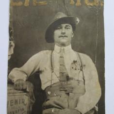 FOTOGRAFIE SOUVENIR DE LA FOTOGRAFIA CONSTANTA ANII 20, Alb-Negru, Portrete, Romania 1900 - 1950
